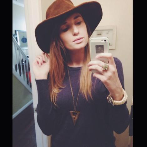 Hat is Minnetonka $125, sweater is Target ;)